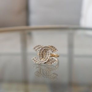 Authentic Chanel CC Ring